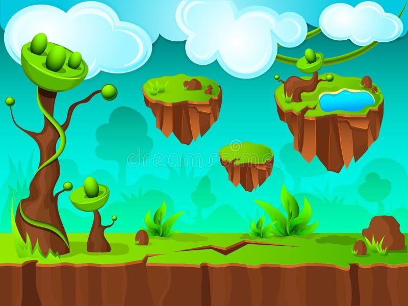 Conception verte de couche de jeu de terre illustration stock