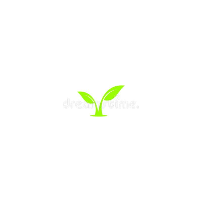 Conception verte de logo de feuille illustration de vecteur