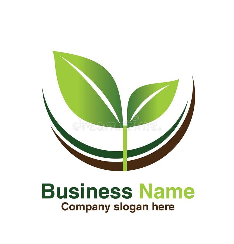 Conception verte de logo de feuille de nature photos libres de droits