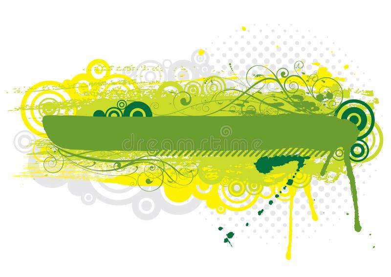 Conception verte grunge de fond illustration libre de droits