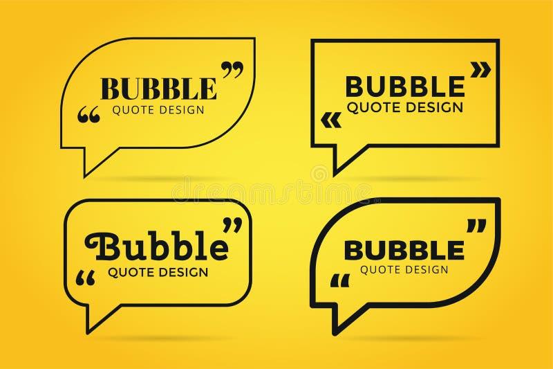 Conception vide de bulle vide de calibre de citation illustration de vecteur
