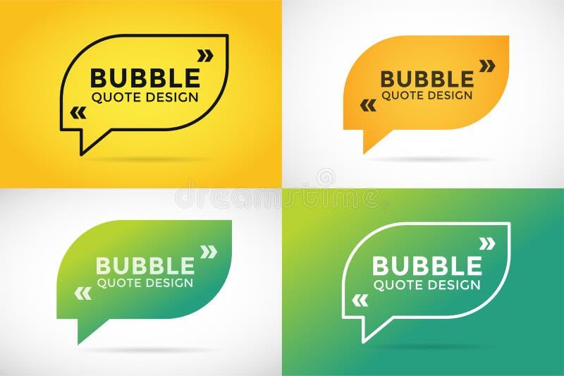 Conception vide de bulle vide de calibre de citation illustration stock