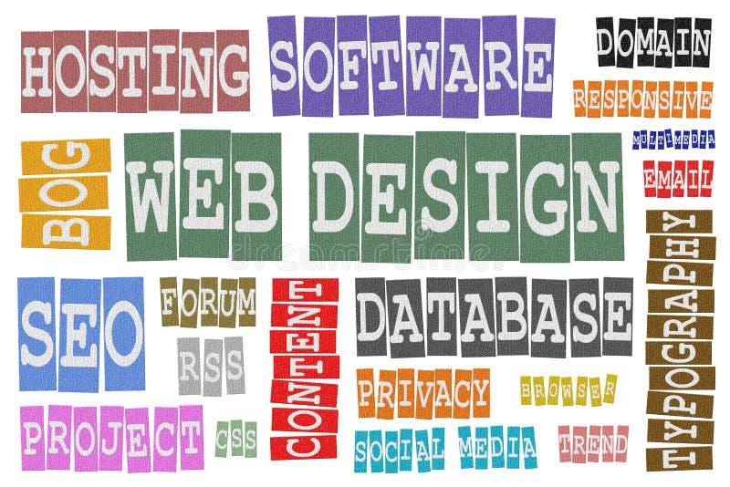 Conception web illustration libre de droits
