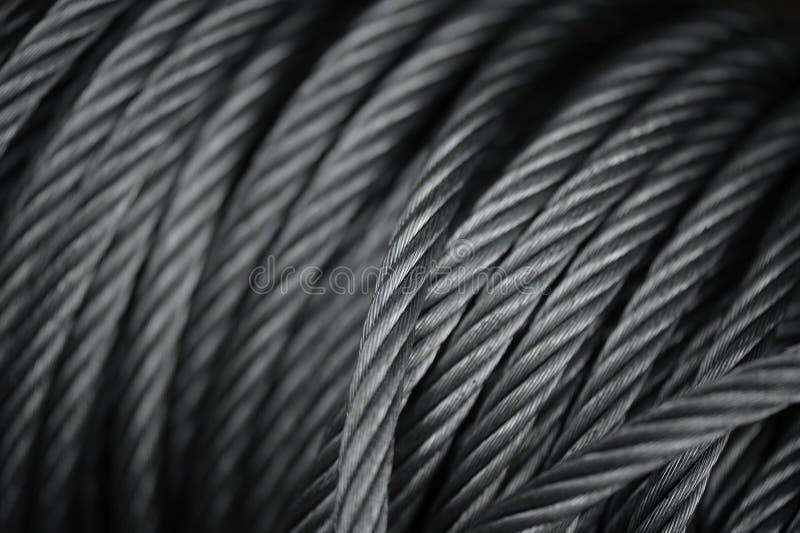 Conceptions d'abstrait constituées par Steel Cables images stock