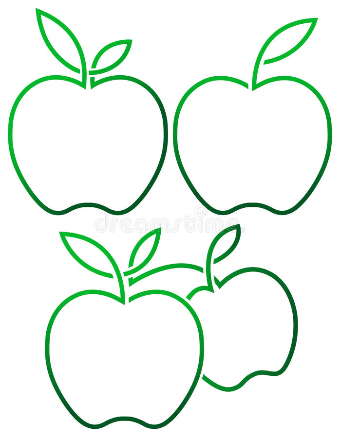 Conceptions d'Apple illustration libre de droits
