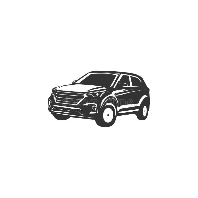 Conceptions d'illustration de silhouette de voiture illustration stock