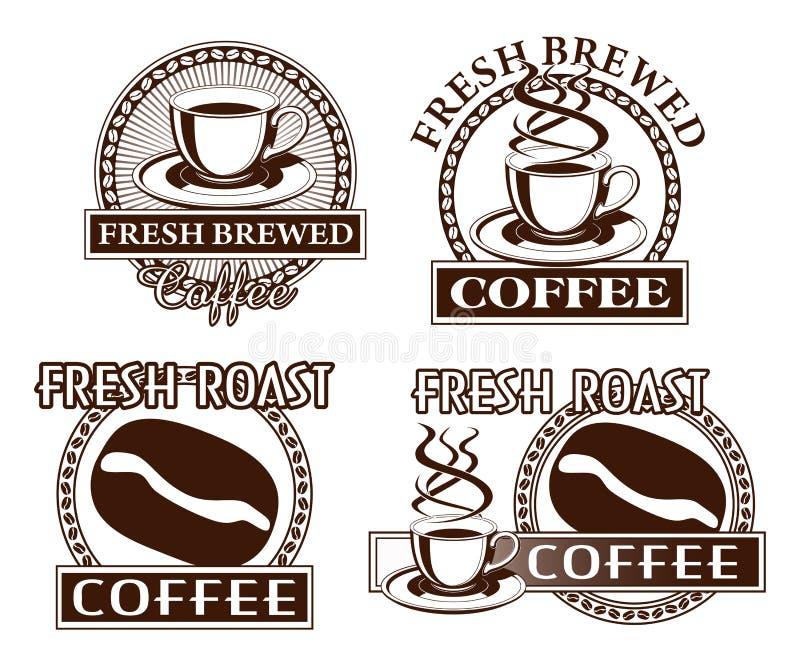 Conceptions de café illustration libre de droits