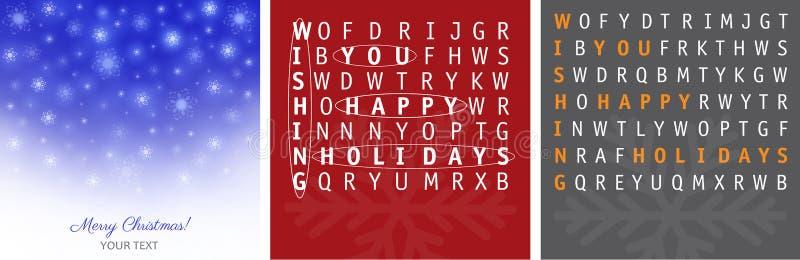 Conceptions de cartes de Noël photos stock