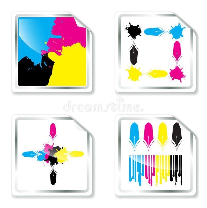 Conceptions de CMYK illustration libre de droits