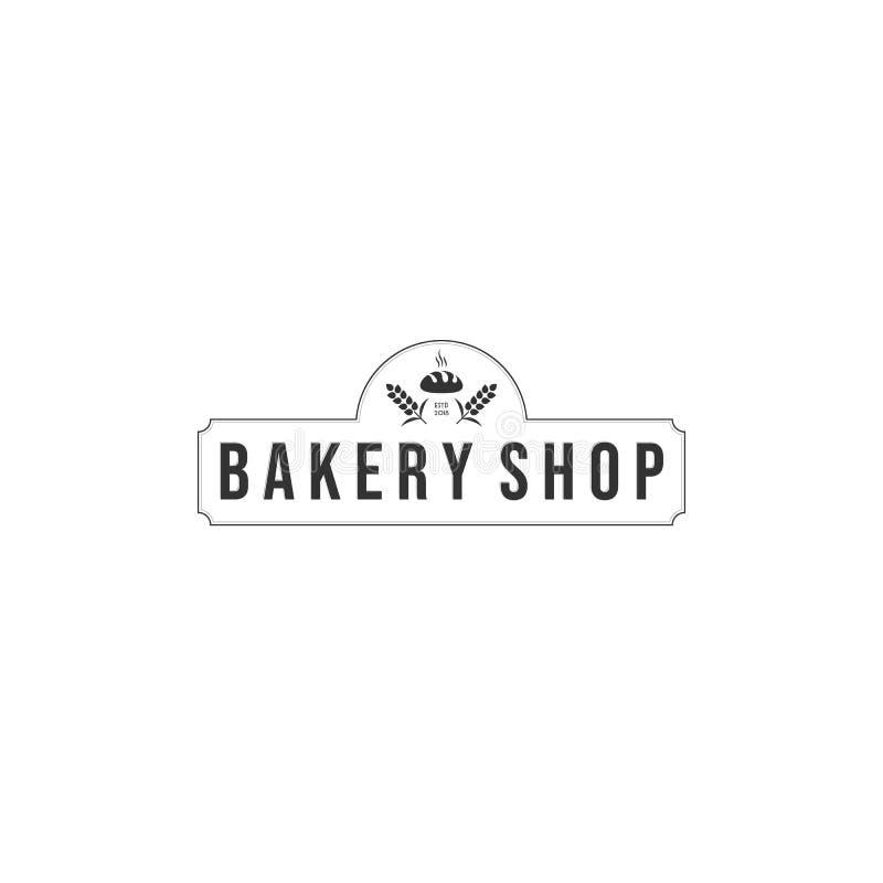Conceptions de logo de boulangerie, type moderne de logo illustration stock