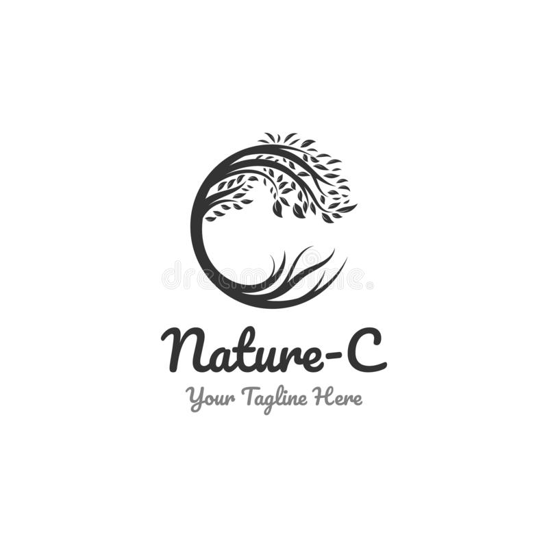 Conceptions de logo de nature et symbole de c illustration de vecteur