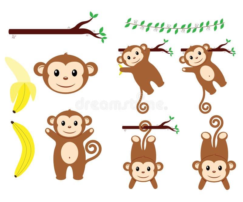 Conceptions de singe photos stock