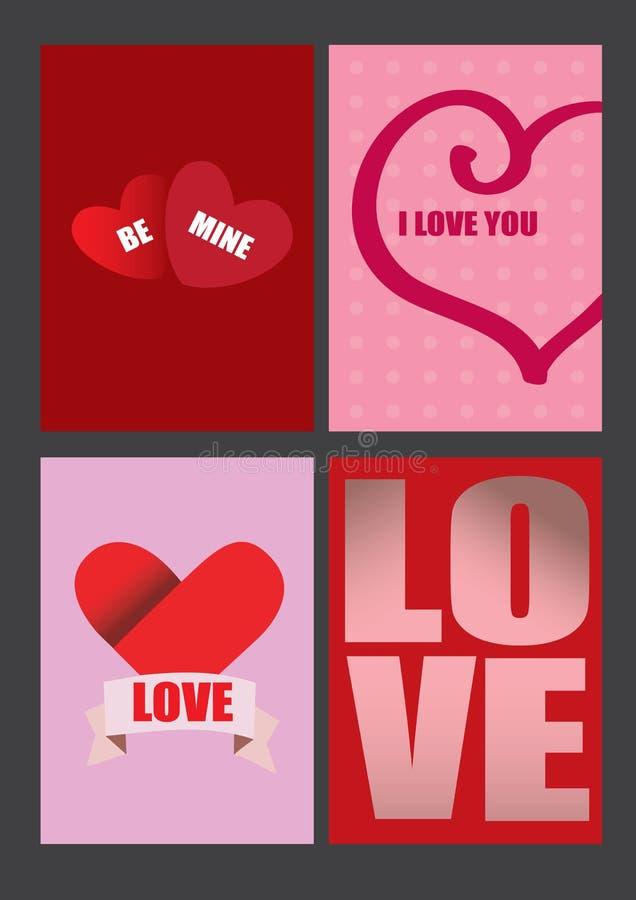 Conceptions de vecteur pour des cartes de voeux et des affiches de jour de valentines illustration stock