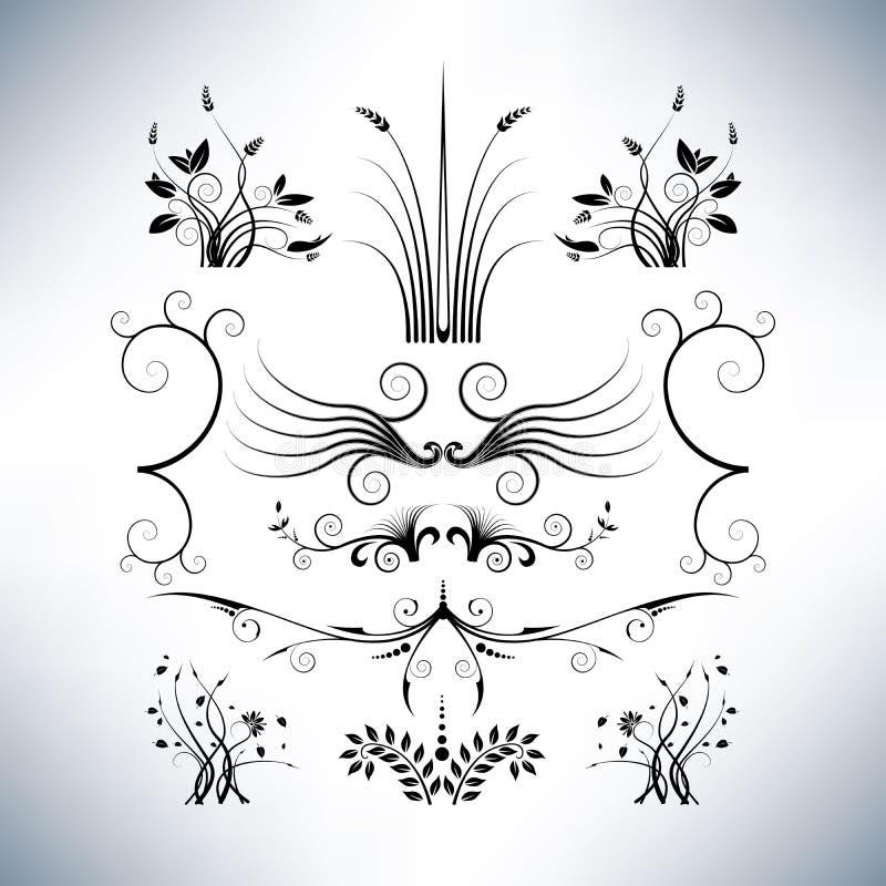 Conceptions florales élégantes illustration libre de droits