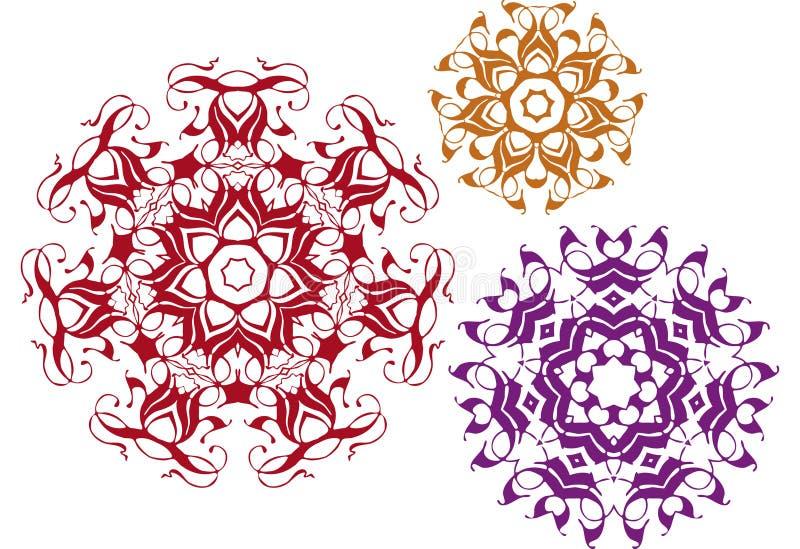 Conceptions florales illustration de vecteur