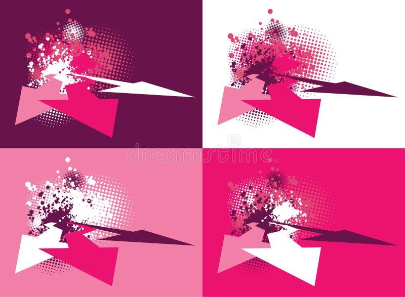 conceptions grunges de l'abstrait 3d illustration de vecteur