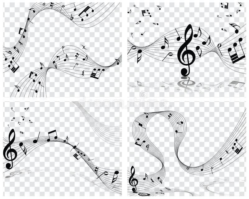 Conceptions musicales illustration de vecteur