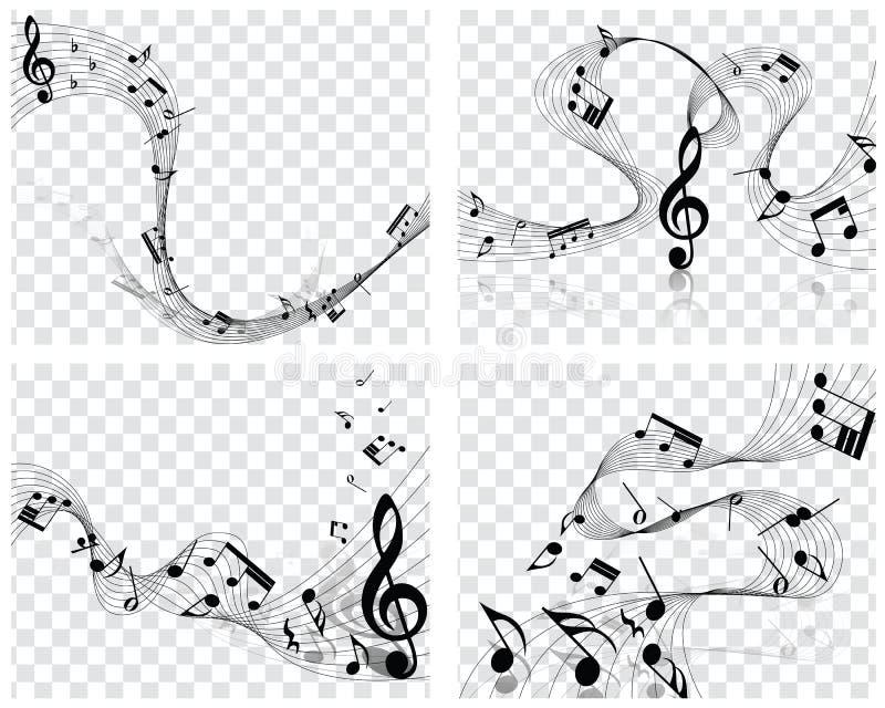 Conceptions musicales illustration libre de droits