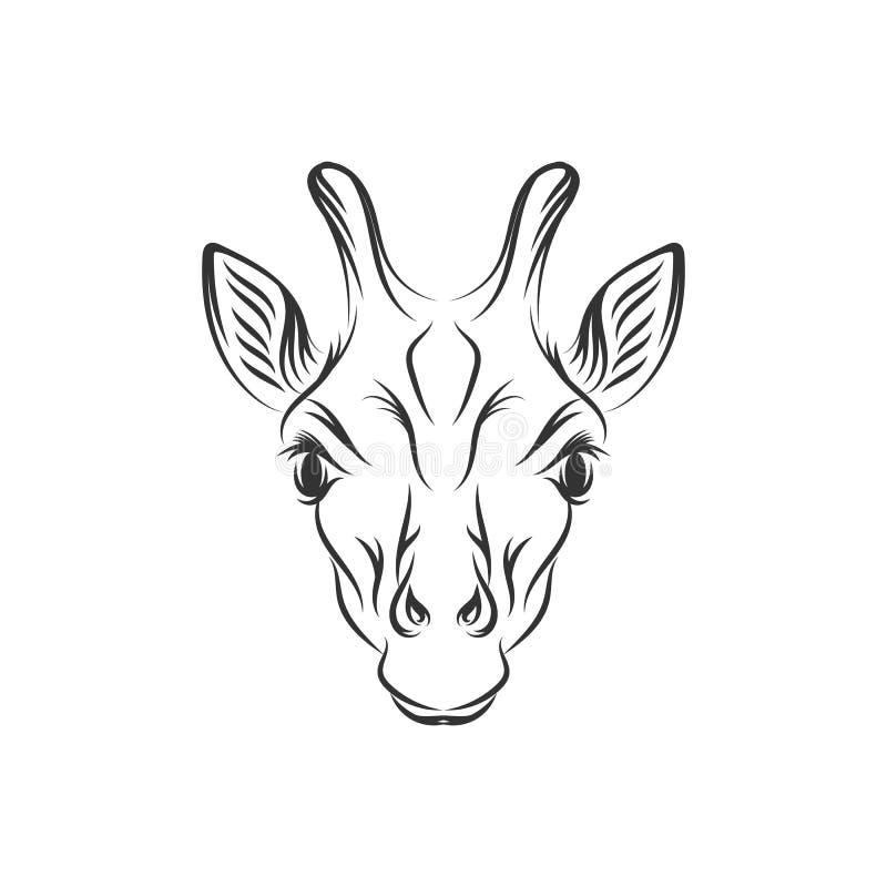 Conceptions tirées par la main d'illustration de girafe illustration libre de droits