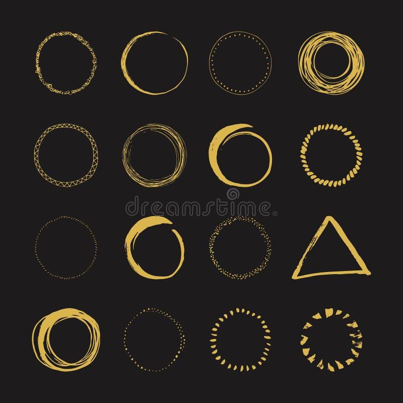 Conceptions tirées par la main de logo illustration de vecteur
