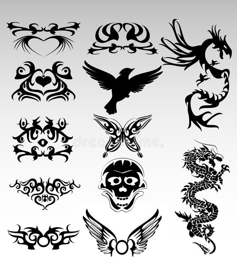 Conceptions tribales illustration de vecteur
