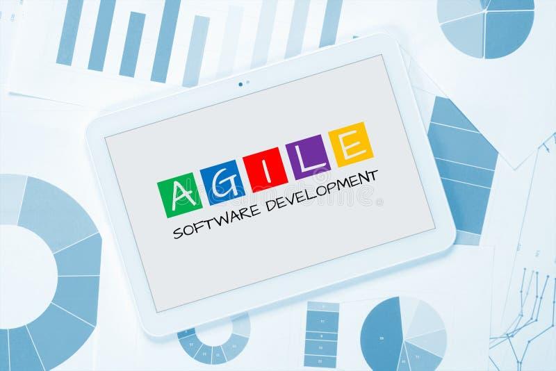 Concepto ágil del desarrollo de programas imagen de archivo libre de regalías