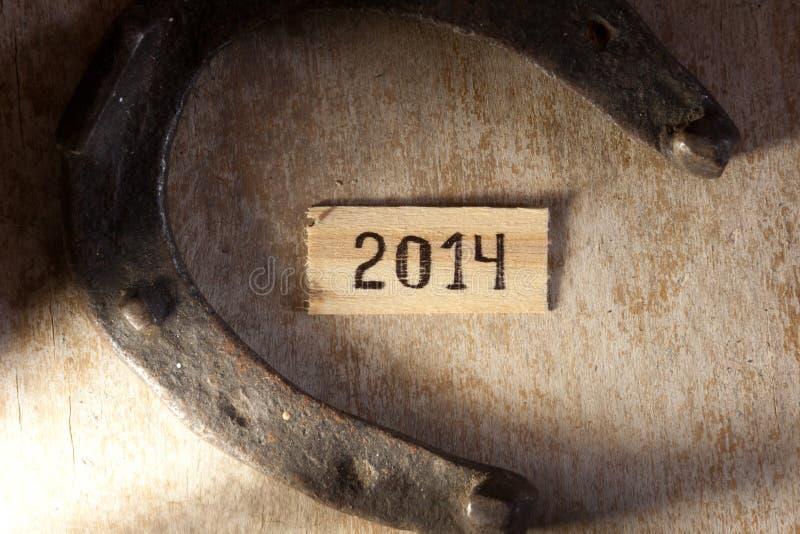 concepto 2014 foto de archivo