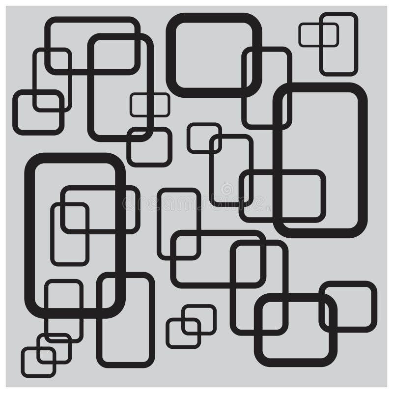 Concepto abstracto cúbico del fondo ilustración del vector
