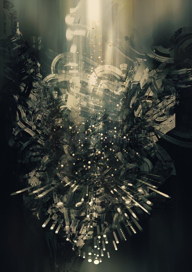 Concepto abstracto de la ciencia ficción ilustración del vector