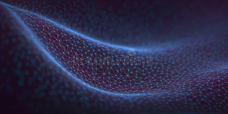 Concepto abstracto de la conexión de la tecnología del fondo