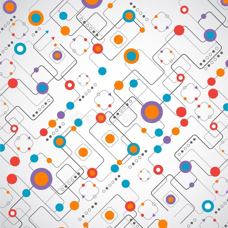 Concepto abstracto de la red del fondo del technplogy ilustración del vector