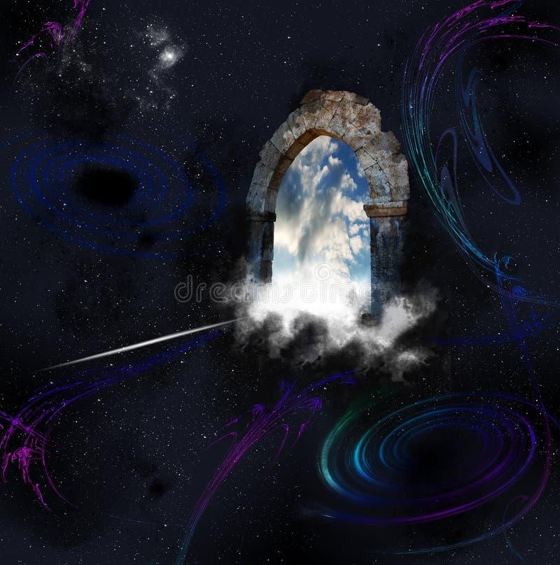 Concepto abstracto de la religión ilustración del vector