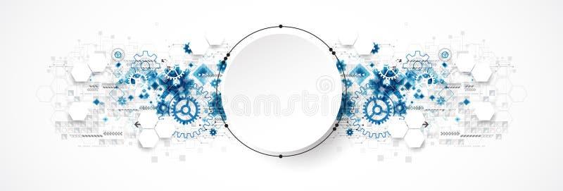 Concepto abstracto de la tecnología del círculo Placa de circuito, alto ordenador stock de ilustración