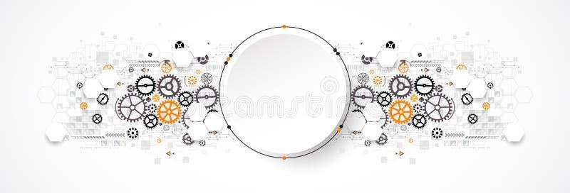 Concepto abstracto de la tecnología del círculo Placa de circuito, alto ordenador libre illustration