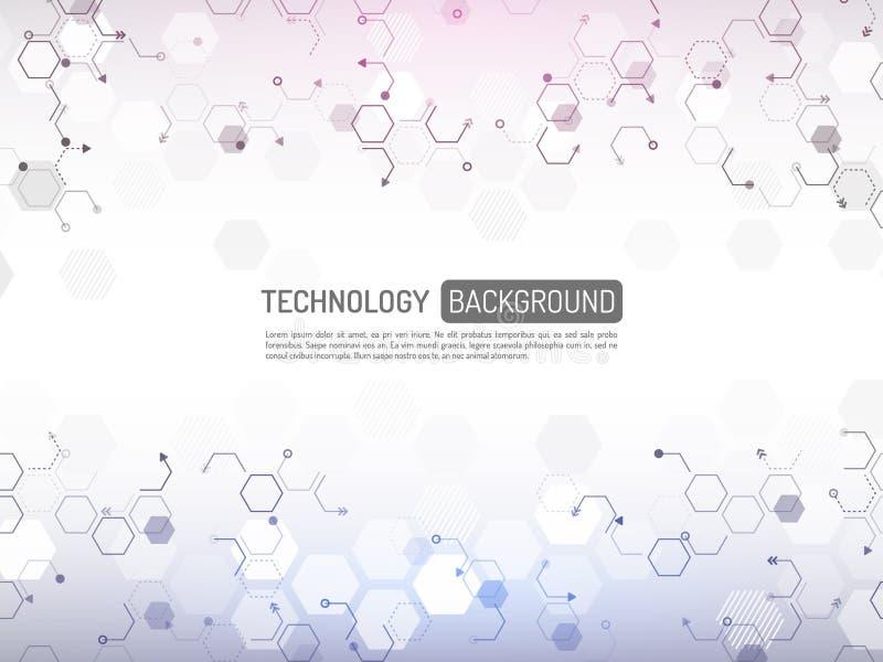 Concepto abstracto de la tecnología digital Innovati de alta tecnología del ordenador ilustración del vector