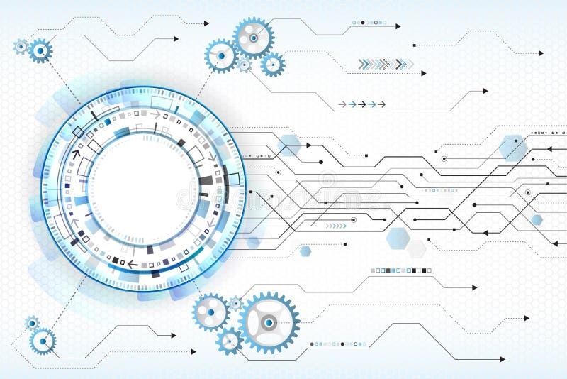 Concepto abstracto de la tecnología digital Ordenador de alta tecnología libre illustration