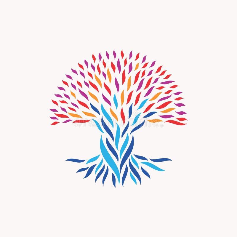 Concepto abstracto del árbol de la unidad stock de ilustración