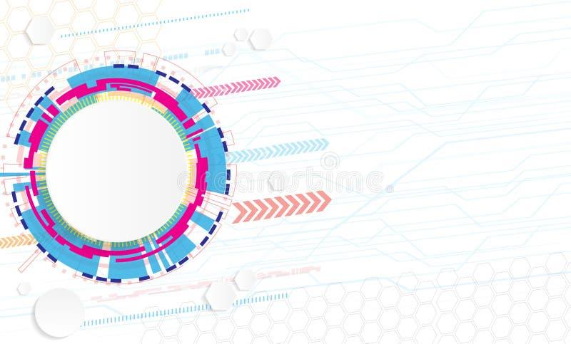 Concepto abstracto del fondo de la tecnología con diverso technologica ilustración del vector