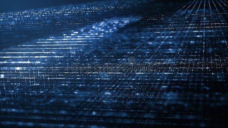Concepto abstracto del fondo de la tecnolog?a de Digitaces ilustración del vector