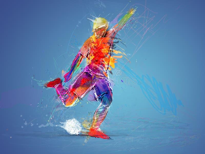 Concepto abstracto del jugador de fútbol imagen de archivo libre de regalías