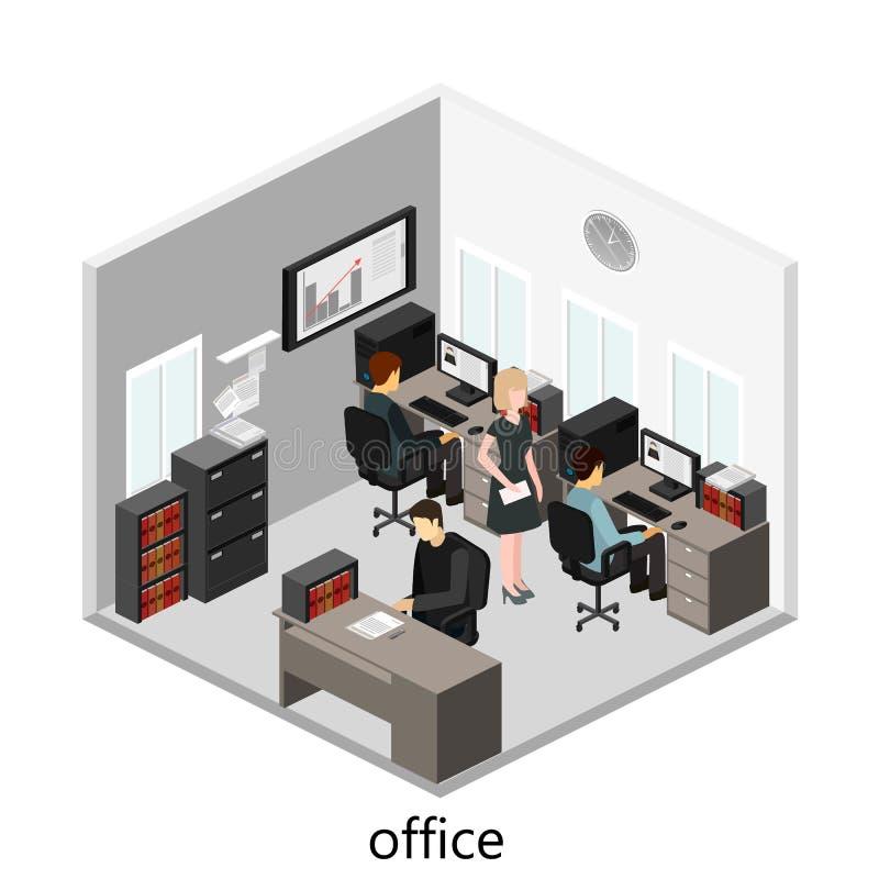 Concepto abstracto isom trico plano de los departamentos for Diseno de oficinas pequenas planos