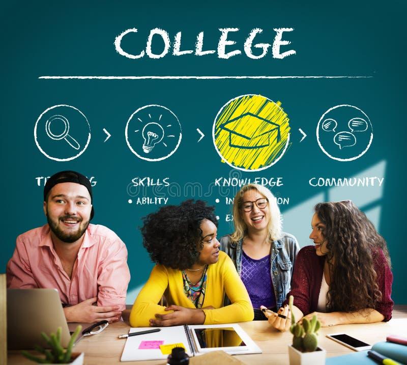 Concepto académico de la educación de la universidad de la universidad de la escuela foto de archivo
