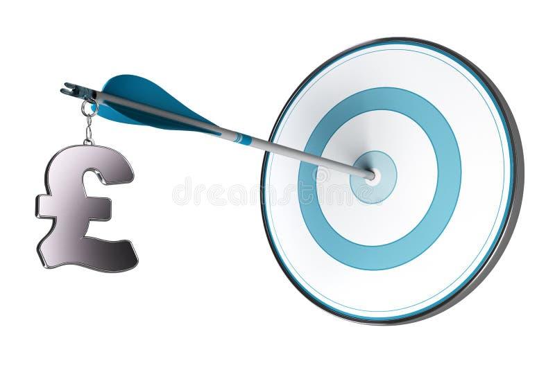 Concepto acertado de la inversión de GBP stock de ilustración