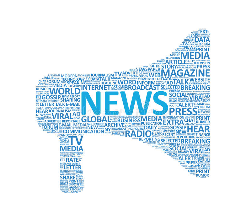 Concepto adicional del megáfono de las noticias ilustración del vector