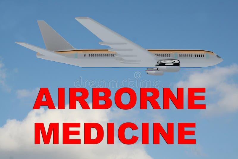 Concepto aerotransportado de la medicina stock de ilustración