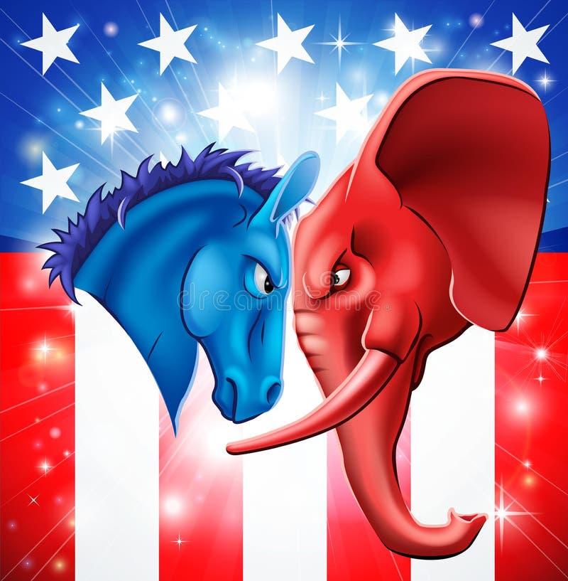 Concepto americano de la política ilustración del vector
