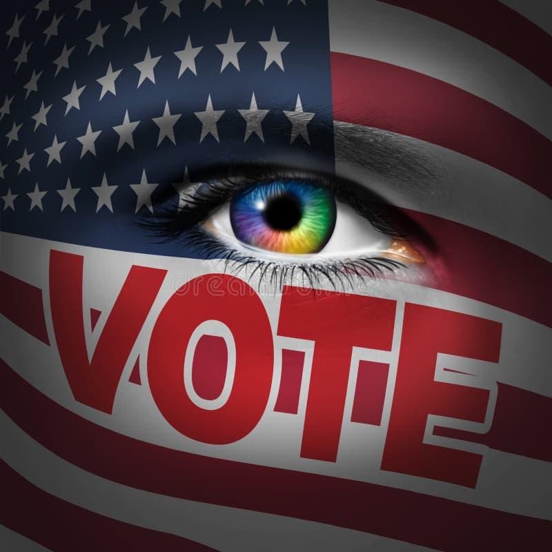 Concepto americano del votante libre illustration