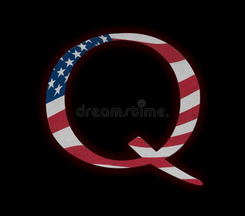 Concepto Anon profundo de la conspiración del estado de Q imagen de archivo libre de regalías