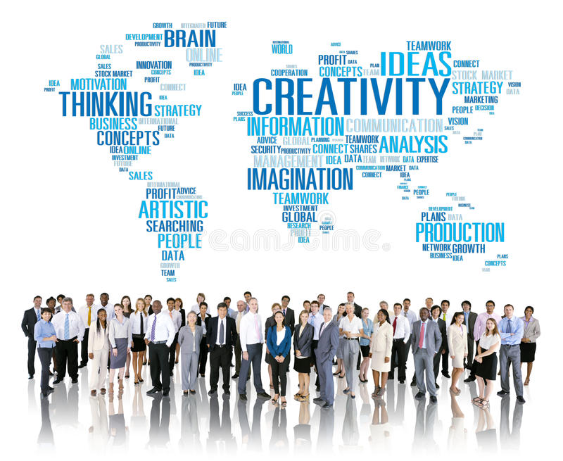 Concepto artístico de la innovación de la inspiración de la imaginación de la creatividad libre illustration