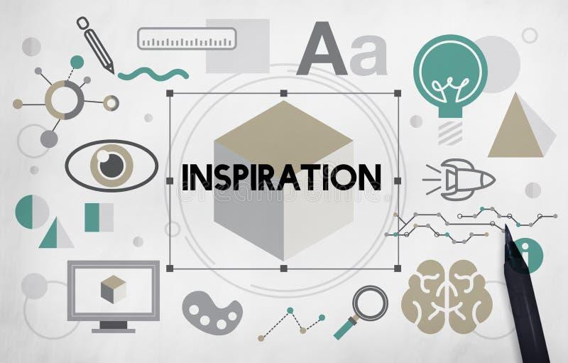 Concepto artístico de la inspiración gráfica de la innovación de las ideas ilustración del vector